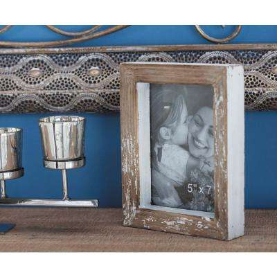 1-Opening Rustic Brown Picture Frames (2-Pack)