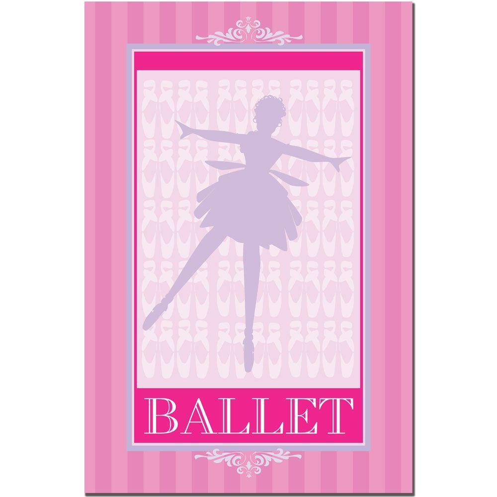 30 in. x 47 in. Ballet in Pink I Canvas Art