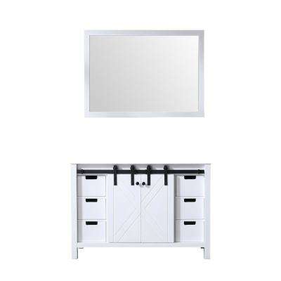 Marsyas 48 in. Single Bath Vanity Cabinet Only with Mirror in White