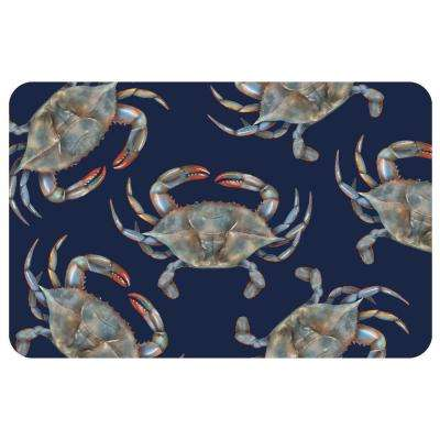 Premium Comfort Blue Crabs 22 in. x 36 in. Door Mat