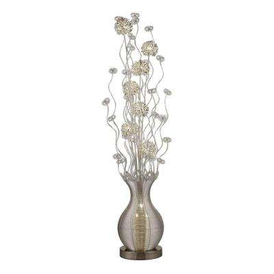 Uniontown 63 in. Silver Contemporary Floral Display Floor Lamp