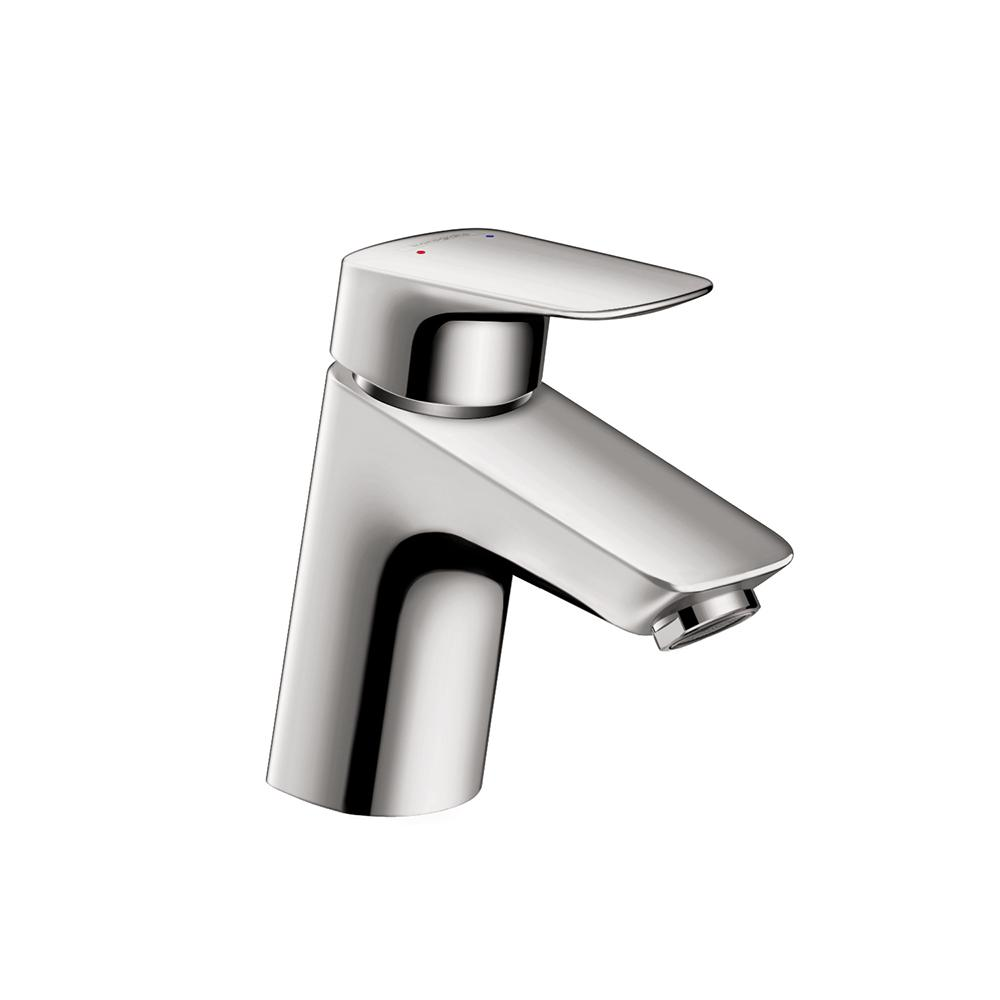 Hansgrohe PuraVida Single Hole 1-Handle Mid-Arc Bathroom Faucet in ...