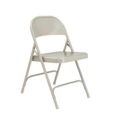 50 Series Grey All-Steel Folding Chair (4-Pack)