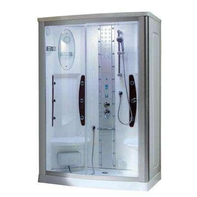 WS-803A 55 in. x 35 in. x 86 in. Steam Shower Enclosure Kit in White