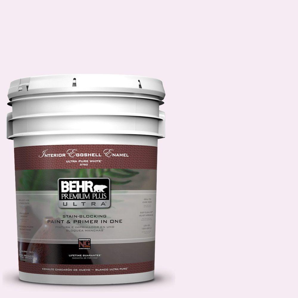 BEHR Premium Plus Ultra 5-gal. #100A-1 Barely Pink Eggshell Enamel Interior Paint
