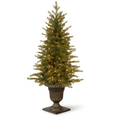 4 ft. Nordic Spruce Entrance Artificial Christmas Tree with Clear Lights
