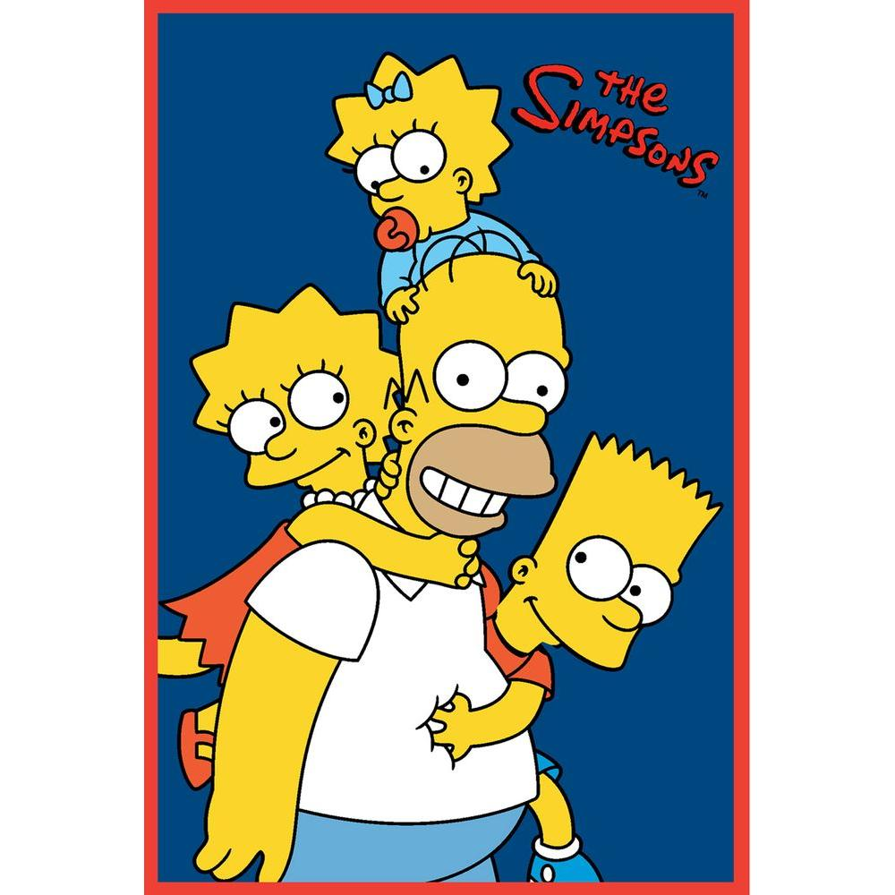 Fun Rugs The Simpsons Homer and Kids Multi Colored 19 in. x 29 in. Accent Rug-DISCONTINUED