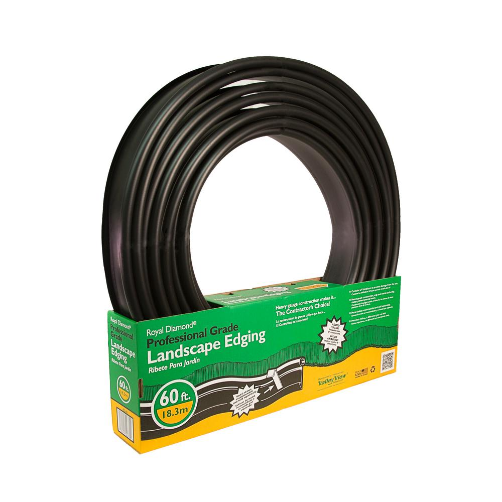 Royal Diamond 60 ft. x 1 in. Black Plastic Lawn Edging