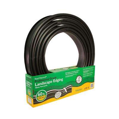 Royal Diamond 60 ft. x 1 in. Black Plastic Lawn Edging Coiled and Pack in a Half Box