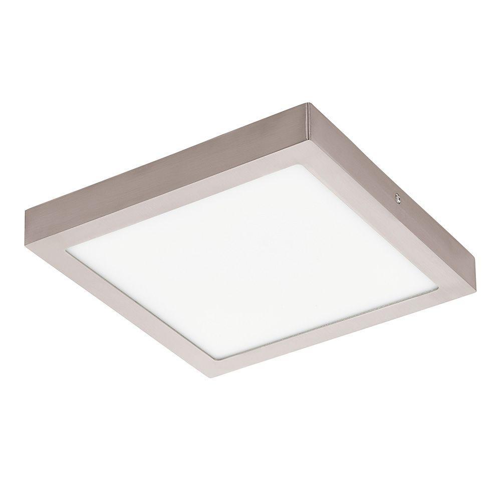 Fueva 1 Matte Nickel Integrated LED Ceiling Light
