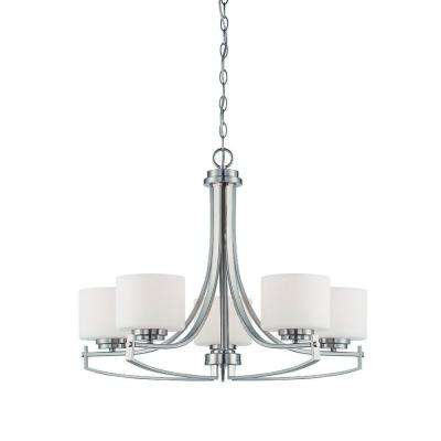 Axel 5-Light Satin Platinum Chandelier
