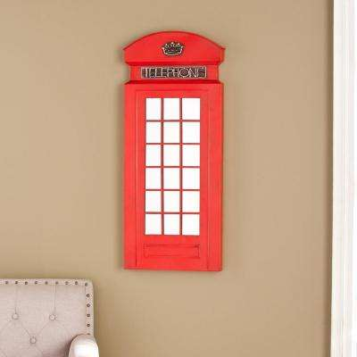 36.25 in. H x 15 in. W Jolene Phone Booth Wall Mirror