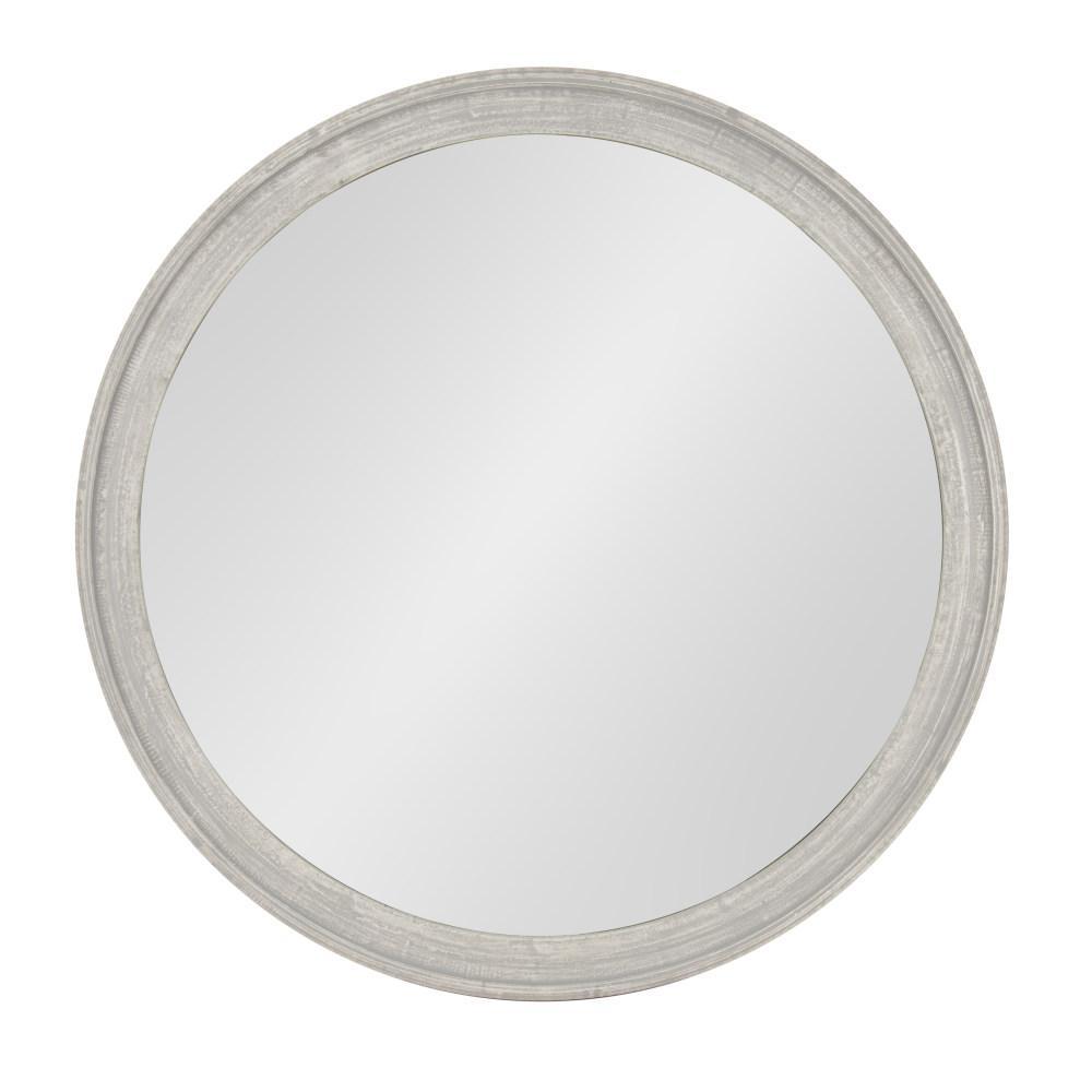 Mansell Round Gray Accent Mirror