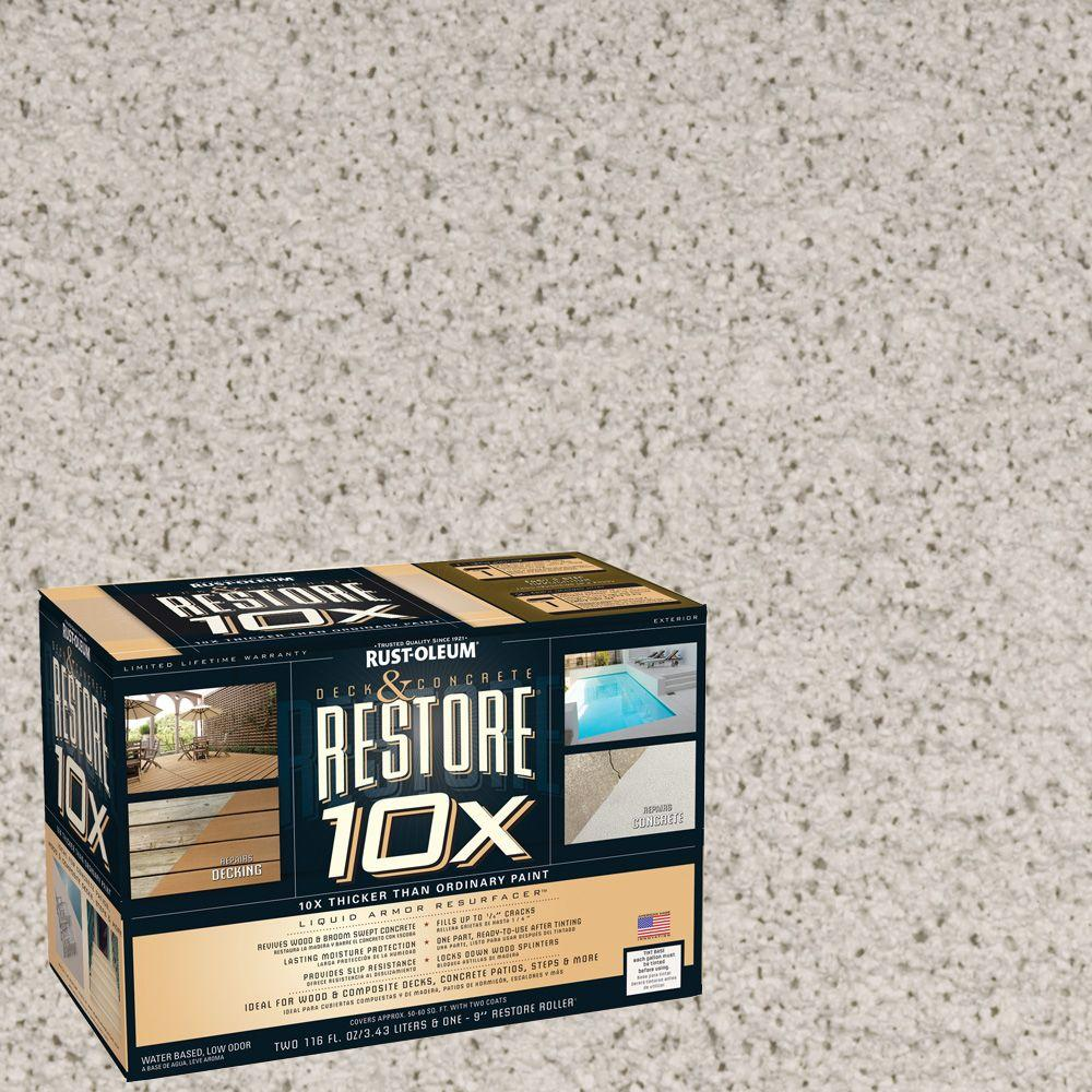 Rust-Oleum Restore 2-gal. Canvas Deck and Concrete 10X Resurfacer