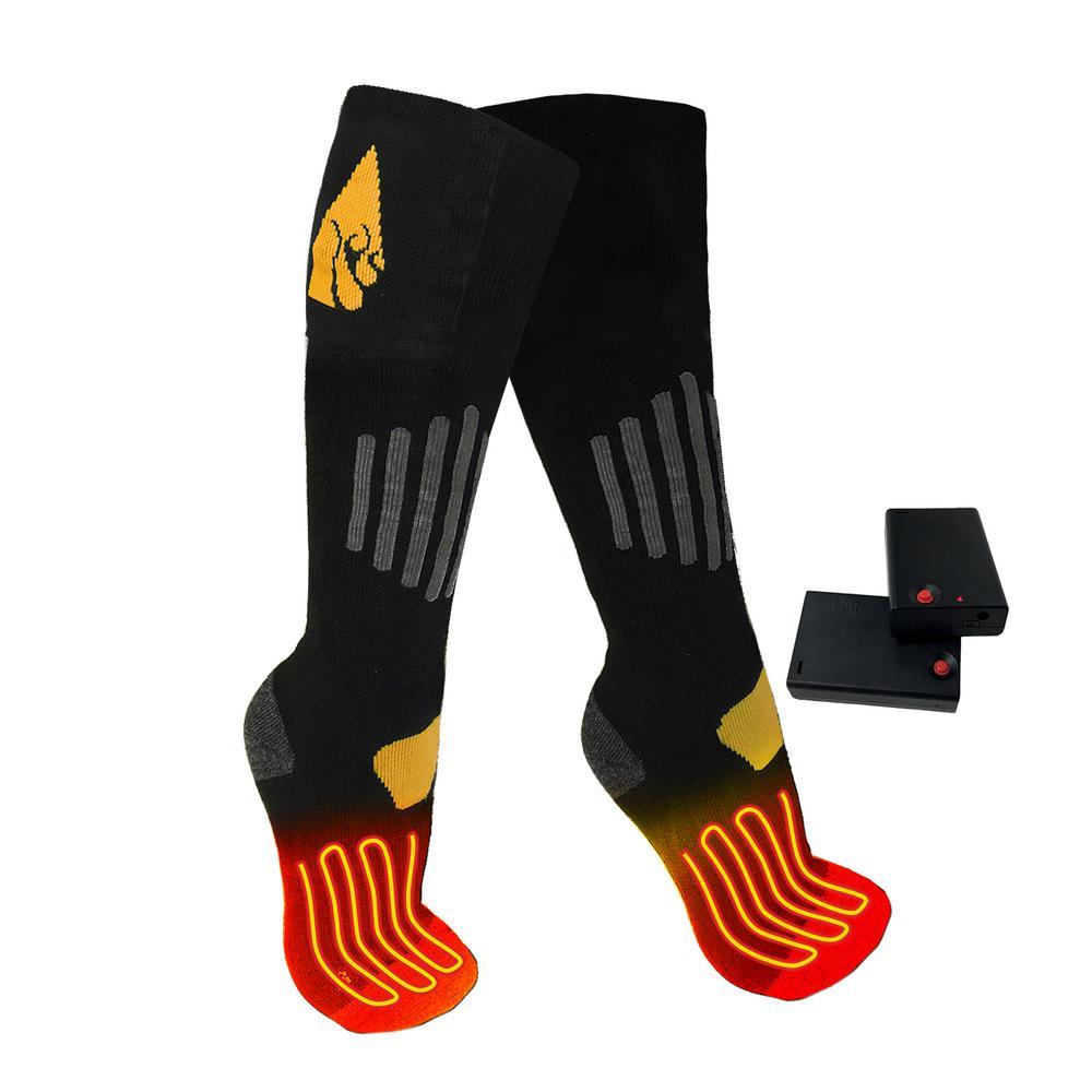 0baaf9b9528 ActionHeat Small Medium Black Wool AA Heated Socks-AH-SK-AA-03-S-M ...