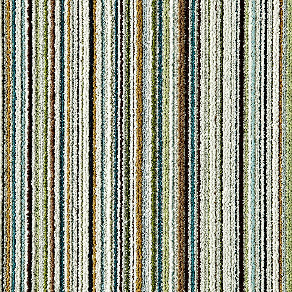 Like Minded Green 19.7 in. x 19.7 in. Carpet Tile (6 Tiles/Case)