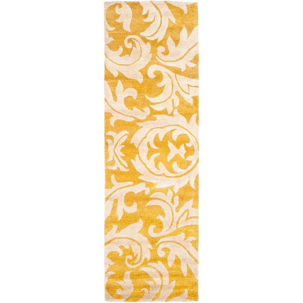 Soho Gold/Ivory 2 ft. 6 in. x 6 ft. Runner