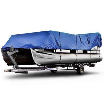 Sportsman 600 Denier 24 ft. to 28 ft. (Beam Width to 104 in.) Blue Pontoon Boat Cover Size PT-4