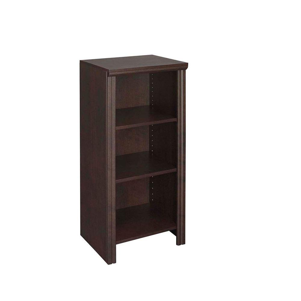 Impressions 14.57 in. x 16 in. Chocolate Laminate Narrow Laminate 4-Shelf