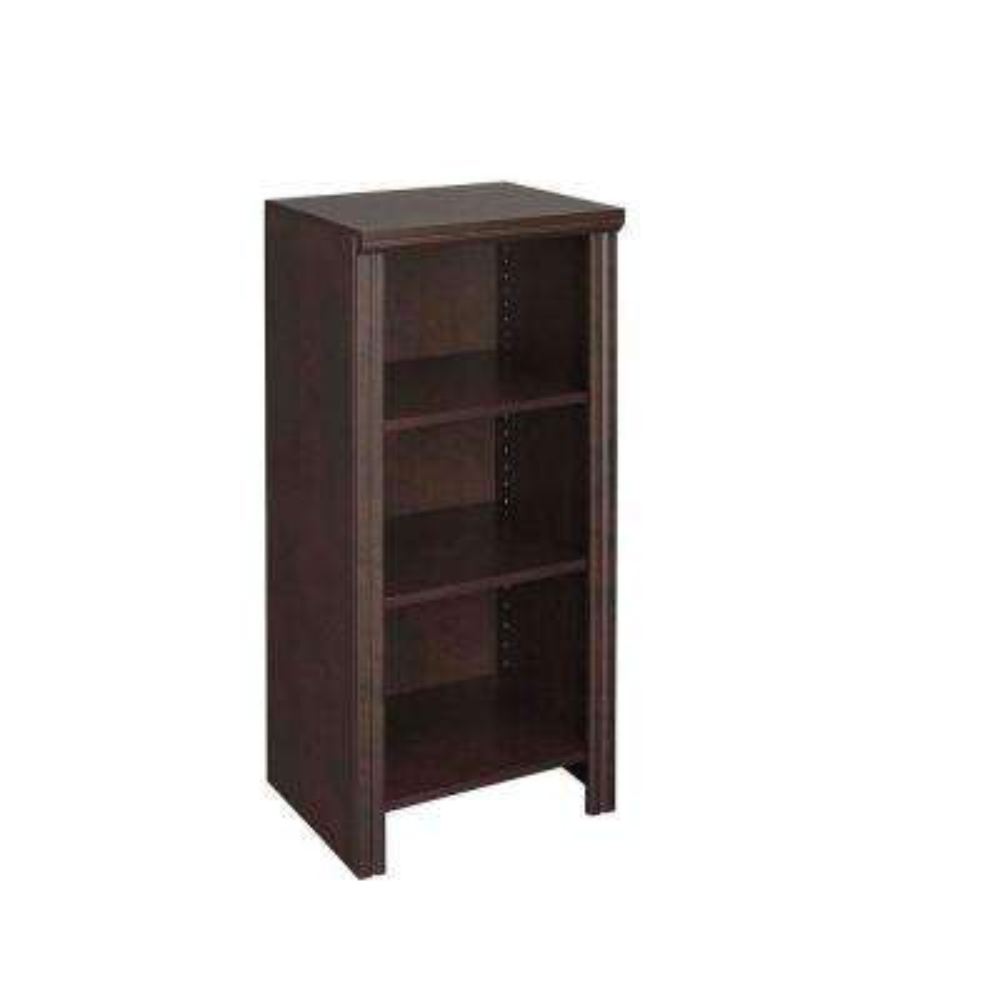 Impressions 14.57 in. x 16 in. Chocolate Laminate Narrow Laminate 4-Shelf Organizer
