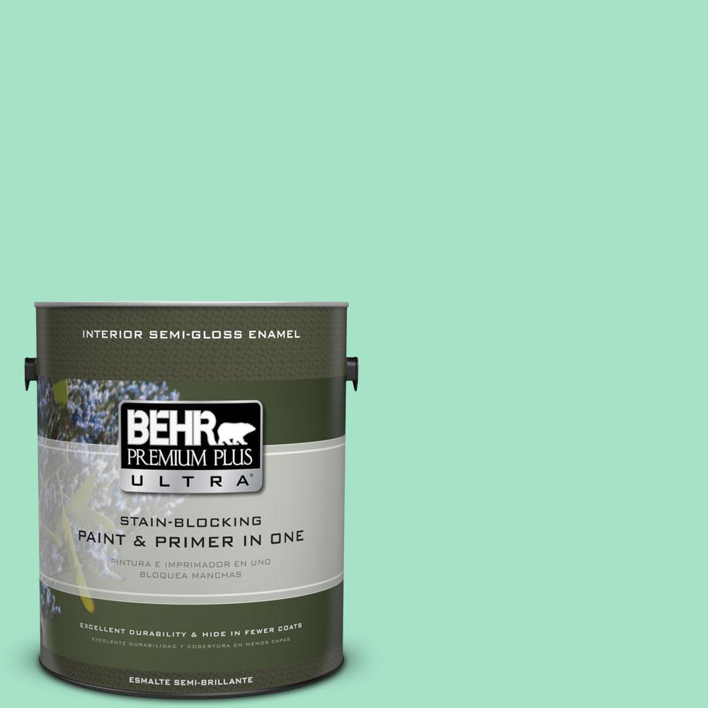 BEHR Premium Plus Ultra 1-gal. #470A-3 Reef Green Semi-Gloss Enamel Interior Paint