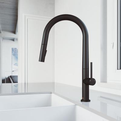 Greenwich Single-Handle Pull-Down Sprayer Kitchen Faucet in Matte Black