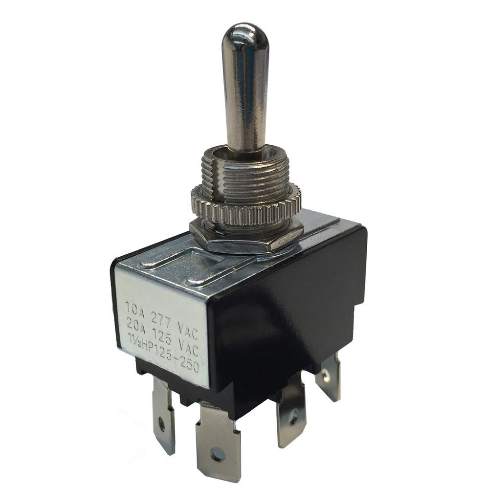 Gardner Bender Ring Toggle Switch DPDT O/F/O 10 Amp 125-Volt (Case ...