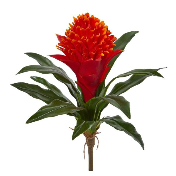 Nearly Natural Indoor 14 Bromeliad Artificial Flower (Set of 8) 2265-S8