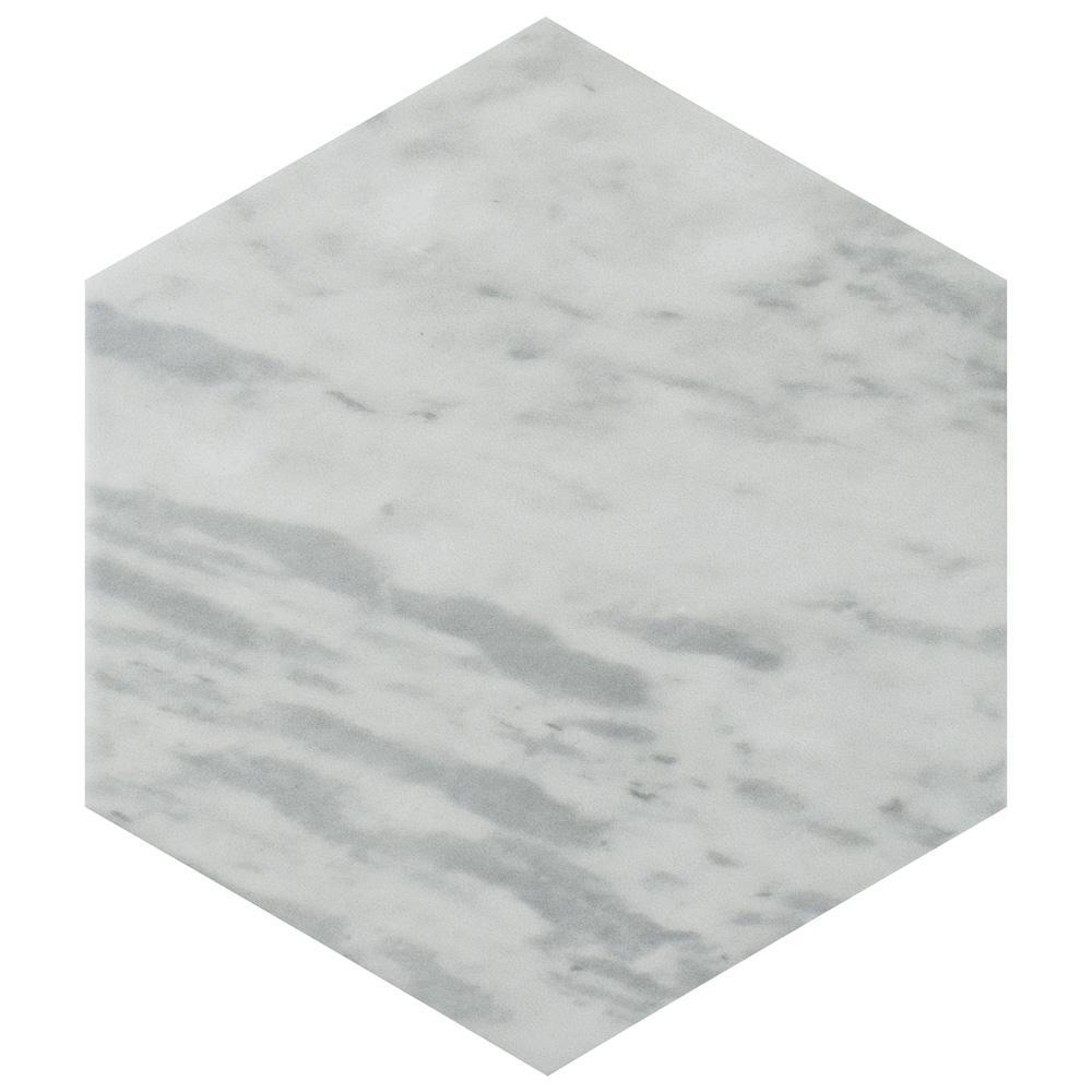 merola tile classico bardiglio hexagon light 7 in x 8 in porcelain
