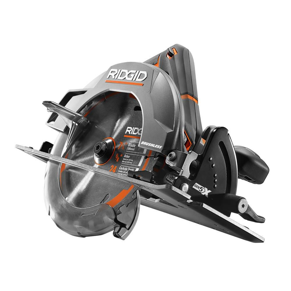 RIDGID 18-Volt Cordless Brushless 7-1/4 in. Circular Saw (Tool Only)
