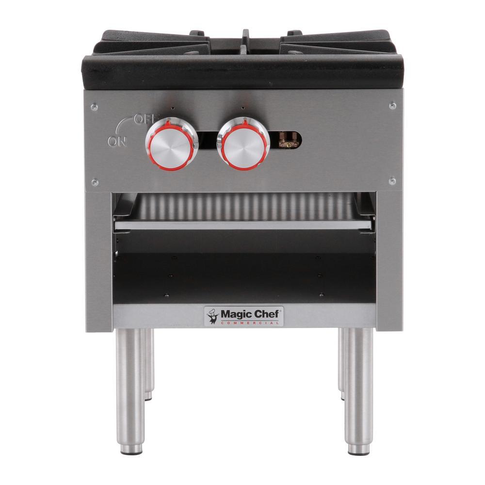 Magic Chef Commercial Countertop Single Stock Pot Gas Cooktop