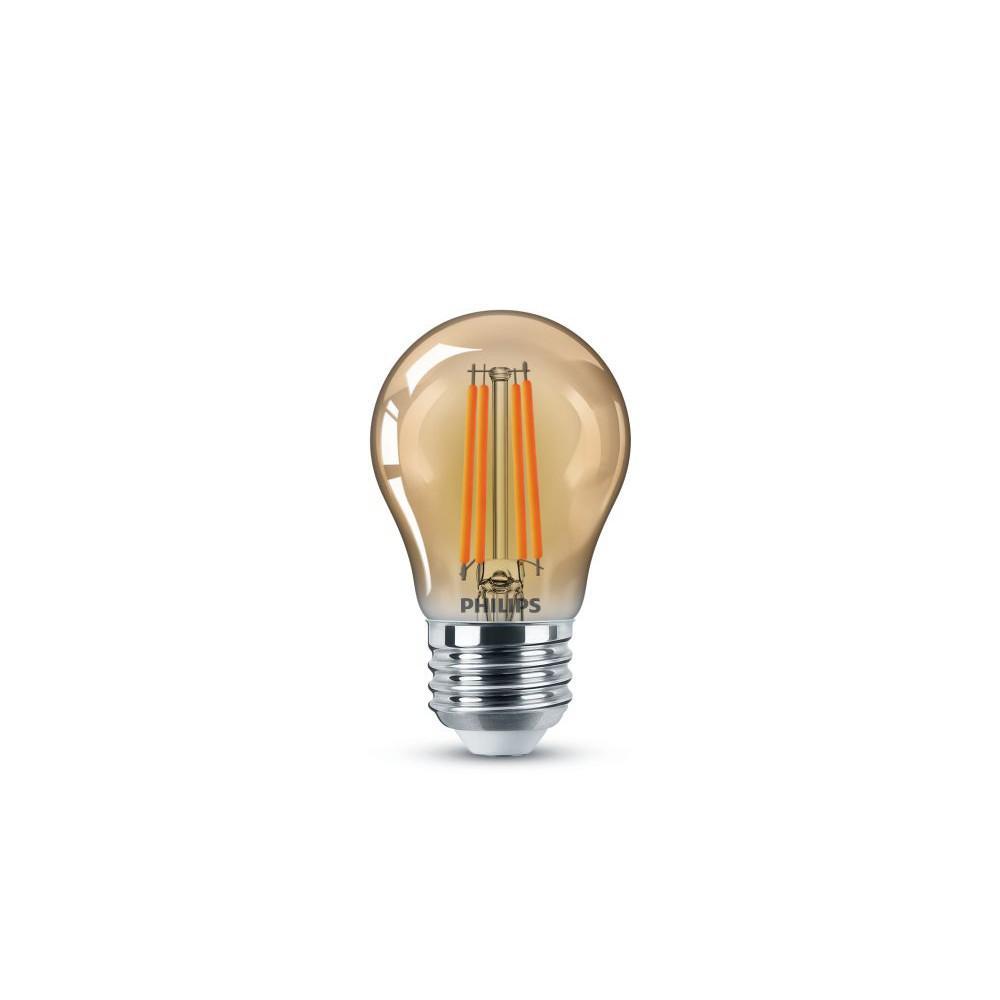 25-Watt Equivalent A15 Clear Glass Edison LED Light Bulb Amber Warm White (2000K) (1-Bulb)