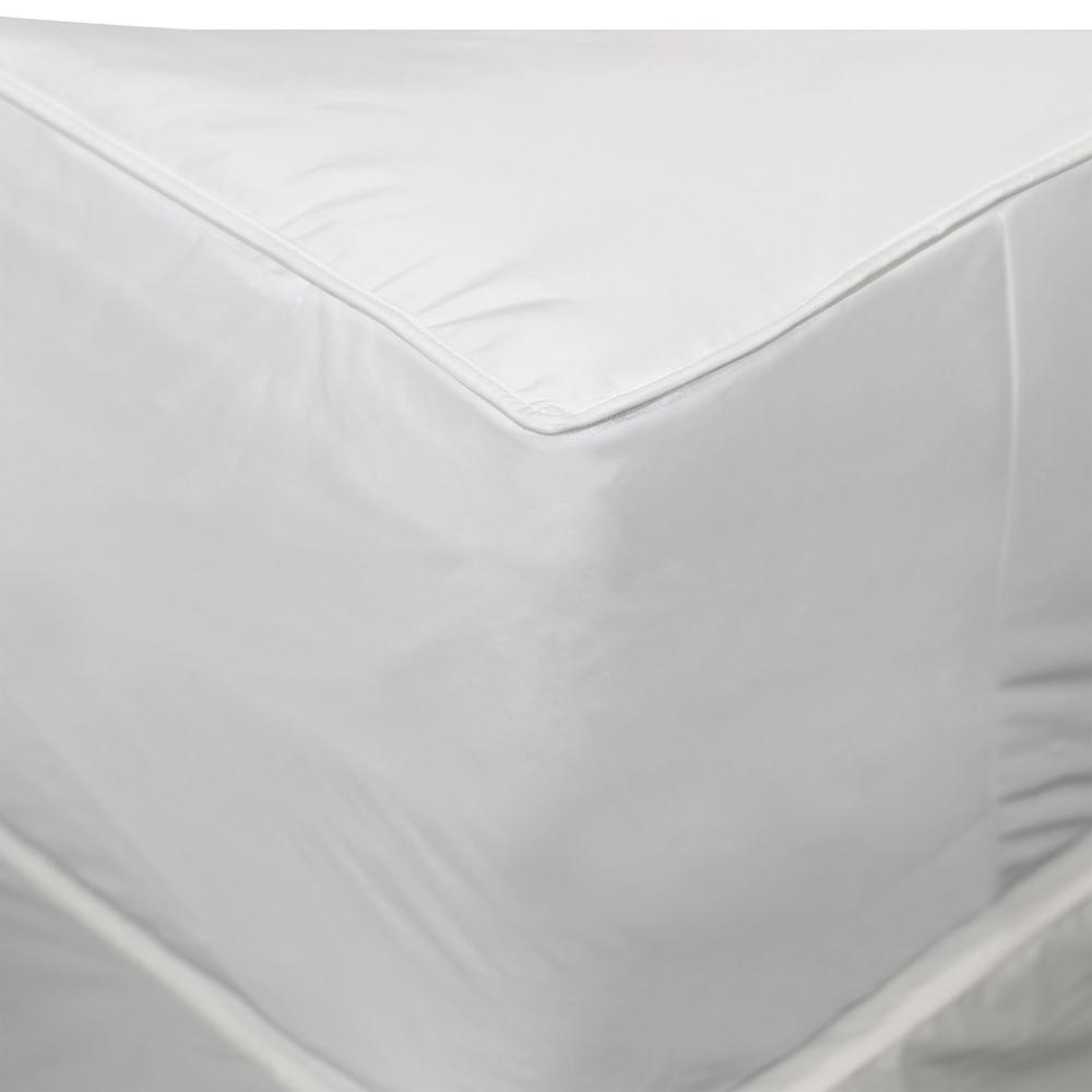 AllerEase 2-in-1 Mattress Pad and Fitted Queen Waterproof Mattress Protector