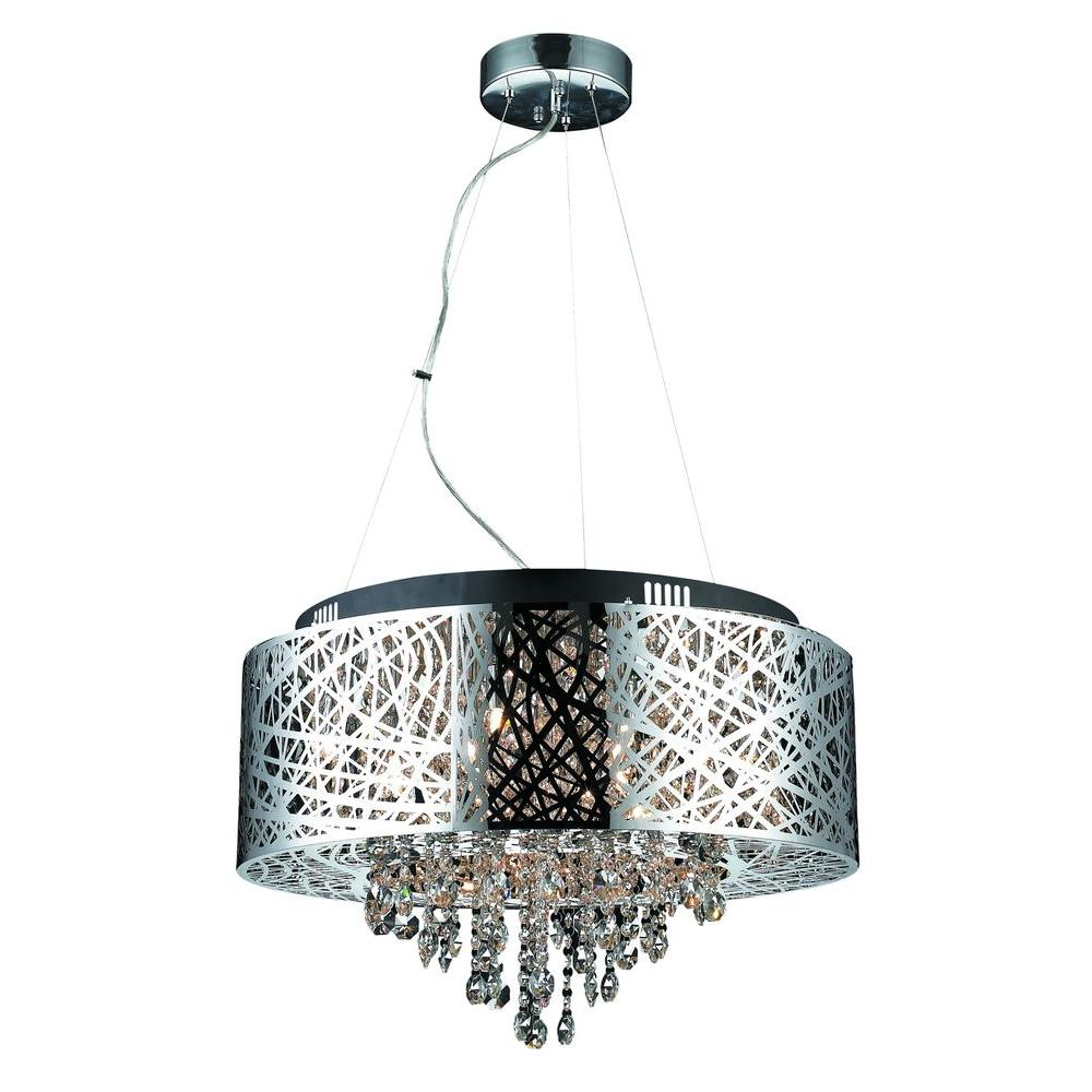 Decor living helix 9 light chrome chandelier shade 103974 15 the decor living helix 9 light chrome chandelier shade aloadofball