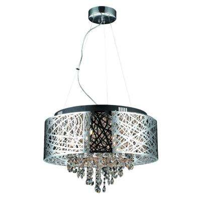 Helix 9-Light Chrome Chandelier Shade
