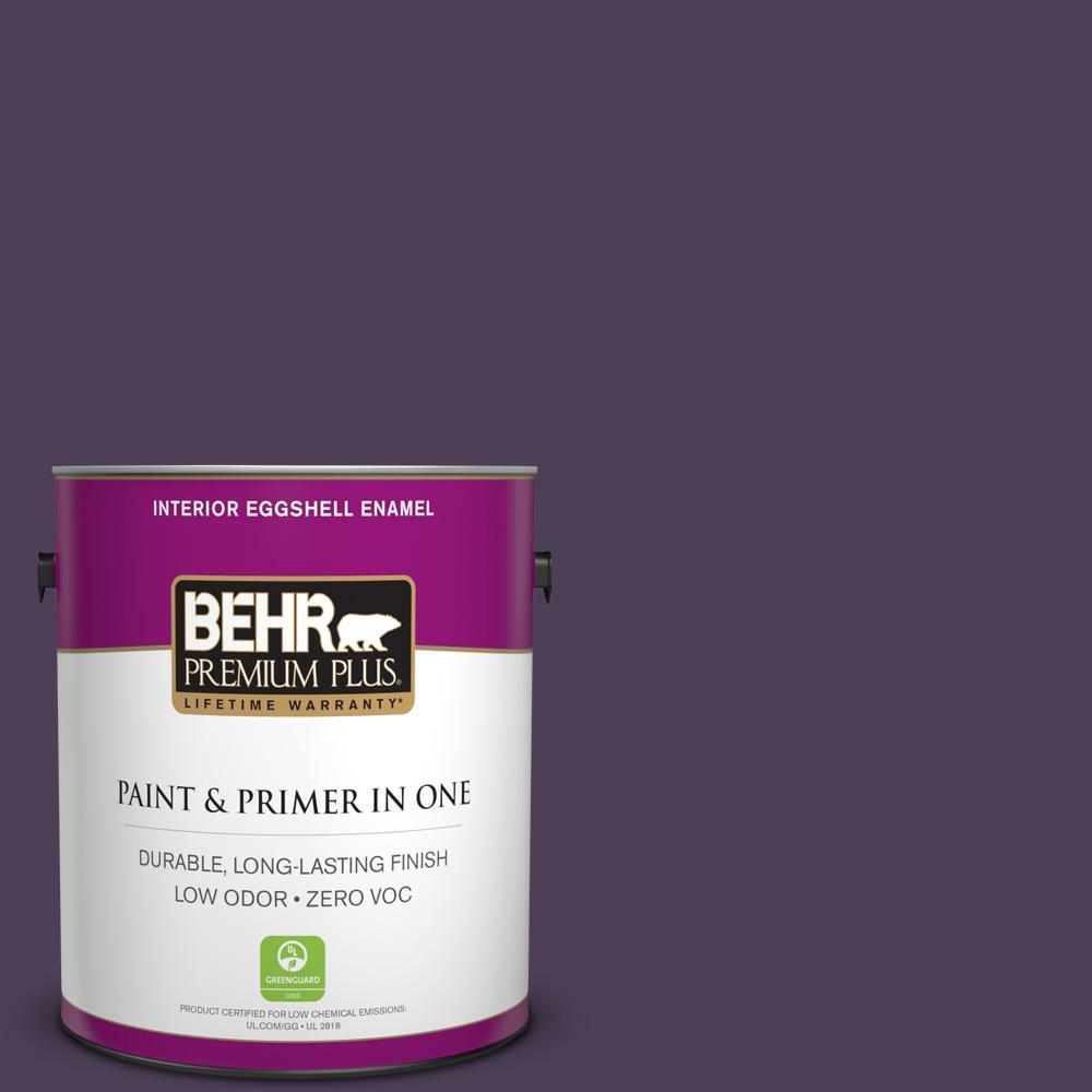 BEHR Premium Plus 1-gal. #S-H-660 Blackberry Harvest Zero VOC Eggshell Enamel Interior Paint