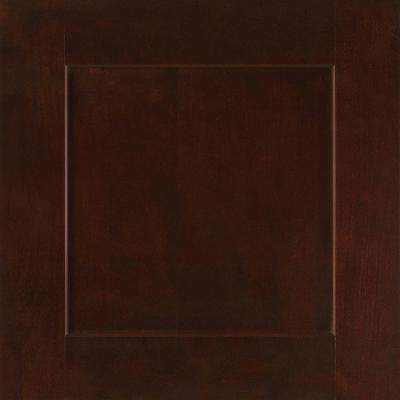 14-9/16x14-1/2 in. Reading Cherry Cabinet Door Sample in Java