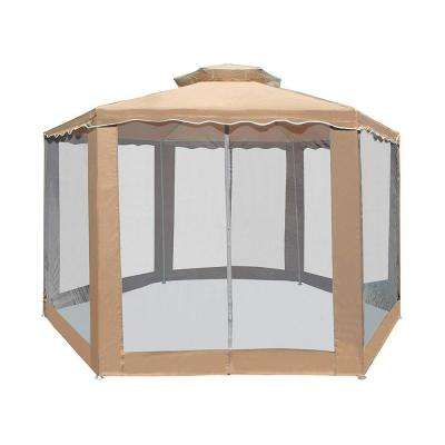 6.5 ft. x 6.5 ft. x 6.5 ft. Hexagon Sand Canopy Gazebo with Netting