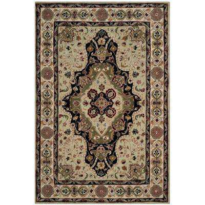 Total Performance Soft Green/Ivory 6 ft. x 9 ft. Area Rug