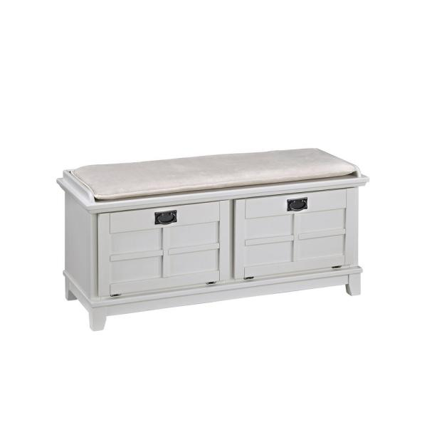 Home Styles Arts and Crafts White Bench 5182-26
