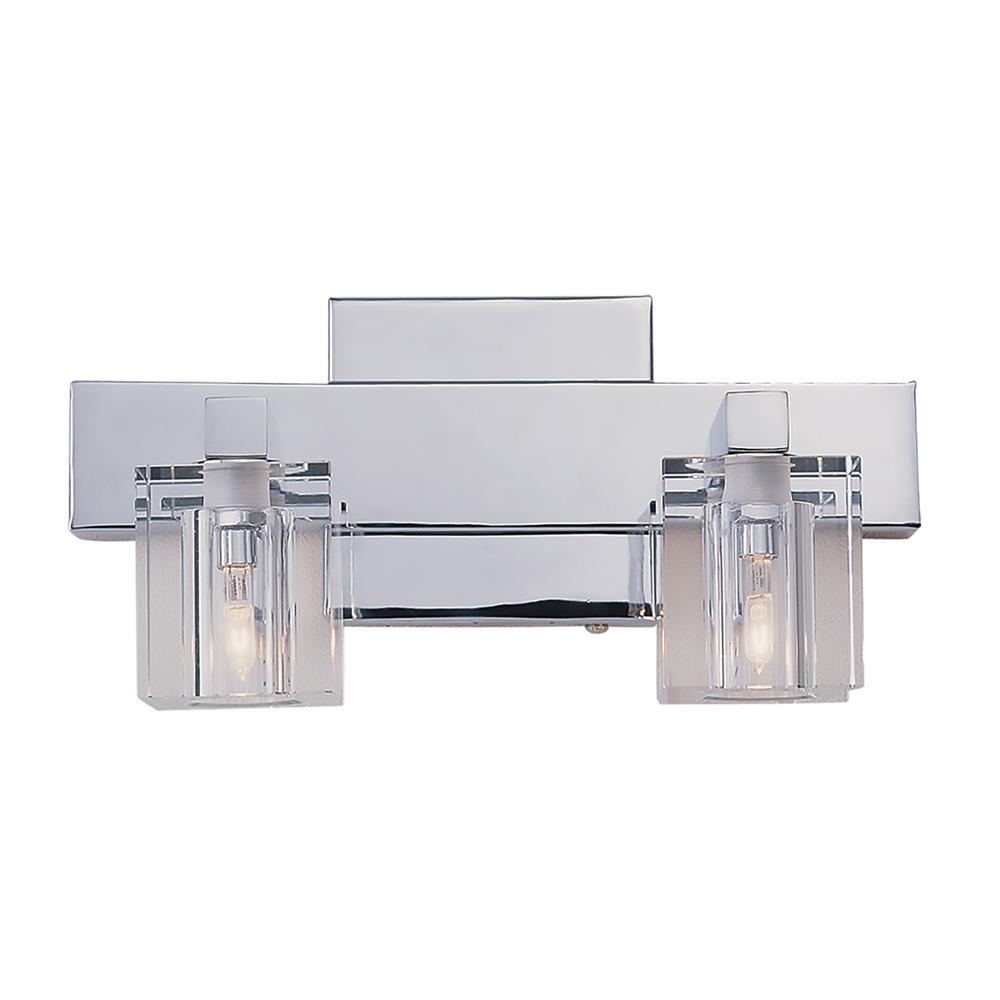 Seaglass 2-Light Polished Chrome Bath Light