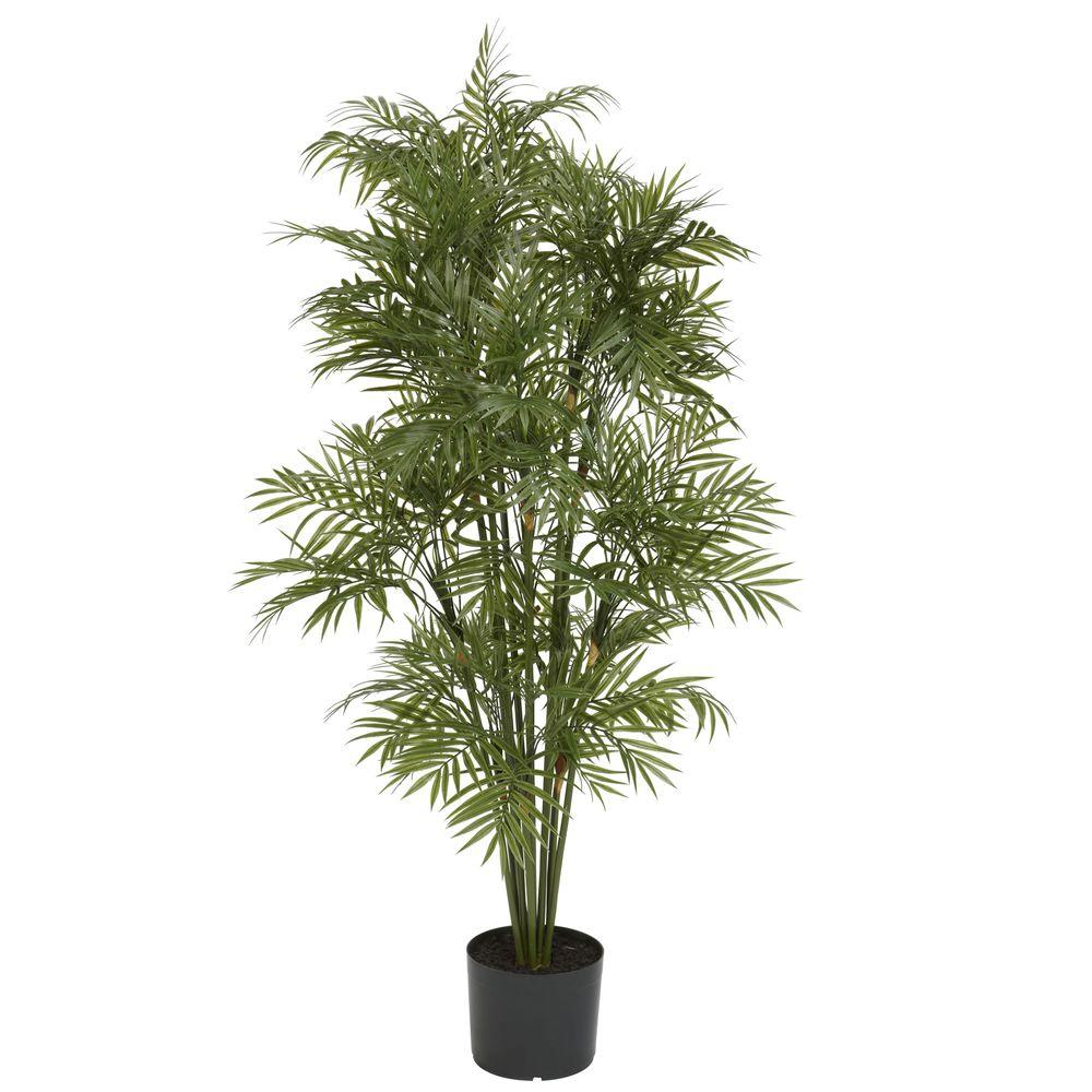 Nearly Natural 4 ft. Plastic Parlor Palm Tree