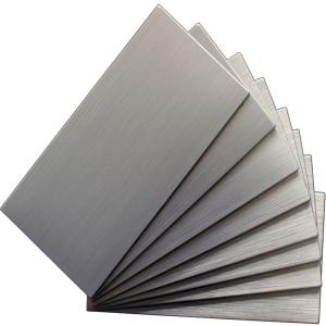 Instant Mosaic Peel And Stick Brushed Stainless Color 6 In