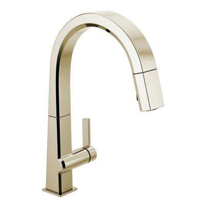 Pivotal Single-Handle Pull-Down Sprayer Kitchen Faucet with MagnaTite Docking in Polished Nickel