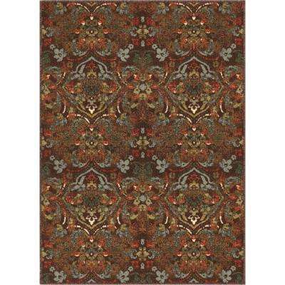 Kings Court Florence Brown 3 Ft X 5 Traditional Rustic Area Rug