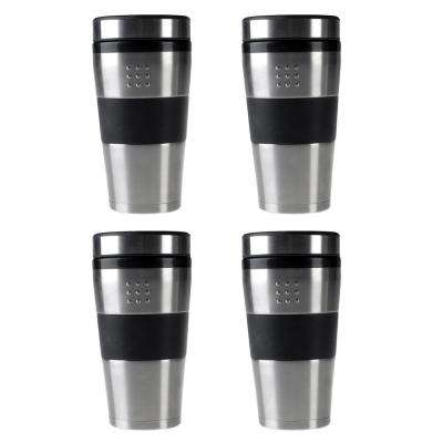 Orion 16 oz. Stainless Steel Coffee Mug Set (Set of 4)