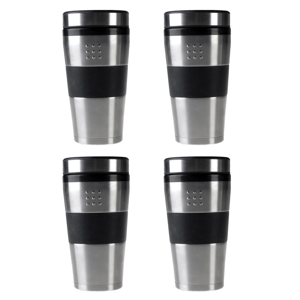 Orion 16 oz. Stainless Steel Coffee Mug Set (Set of 4)