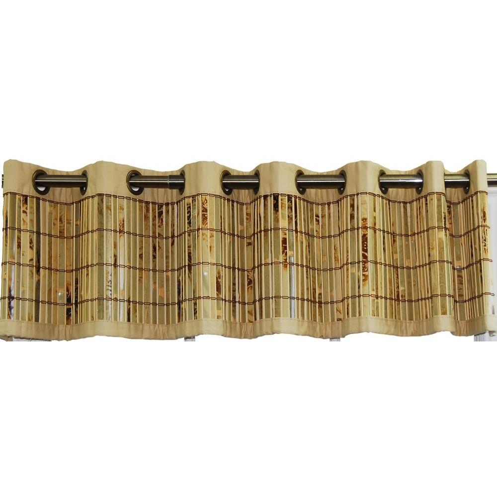 Versailles Home Fashions 72 in. x 12 in. Green Bamboo Valance-DISCONTINUED