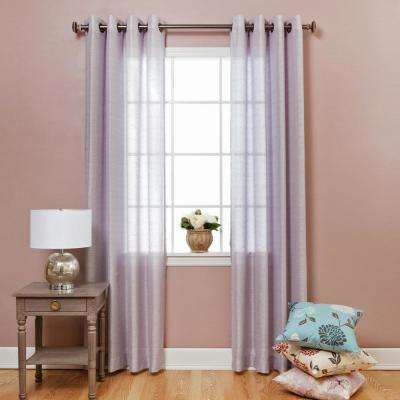 84 in. L Shimmery Grey Faux Silk Curtain (2-Pack)