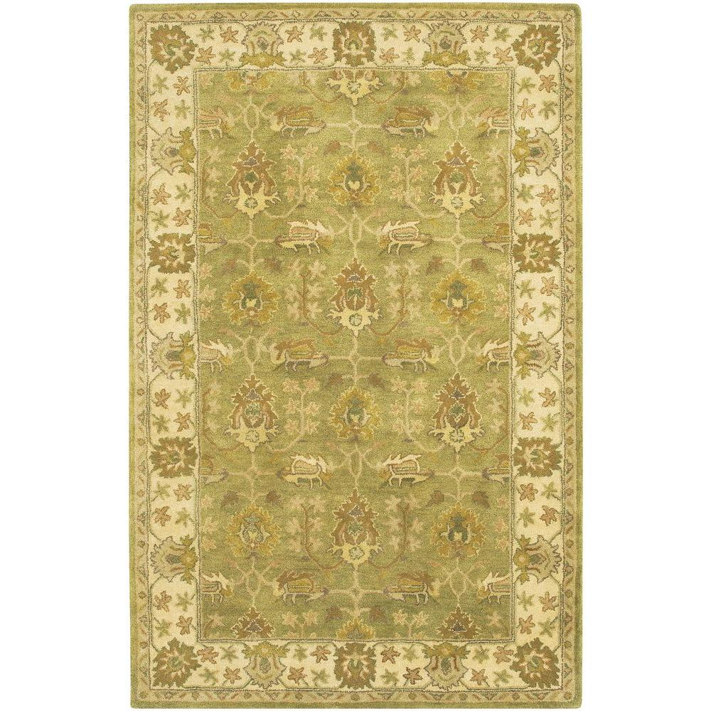 Adonia Green/Ivory/Olive/Brown 5 ft. x 7 ft. 6 in. Indoor Area
